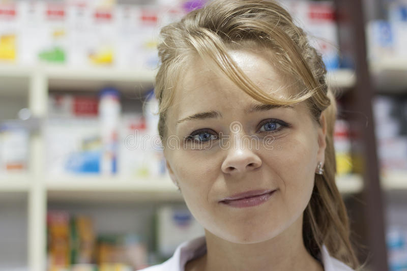 Pharmacist woman stock images
