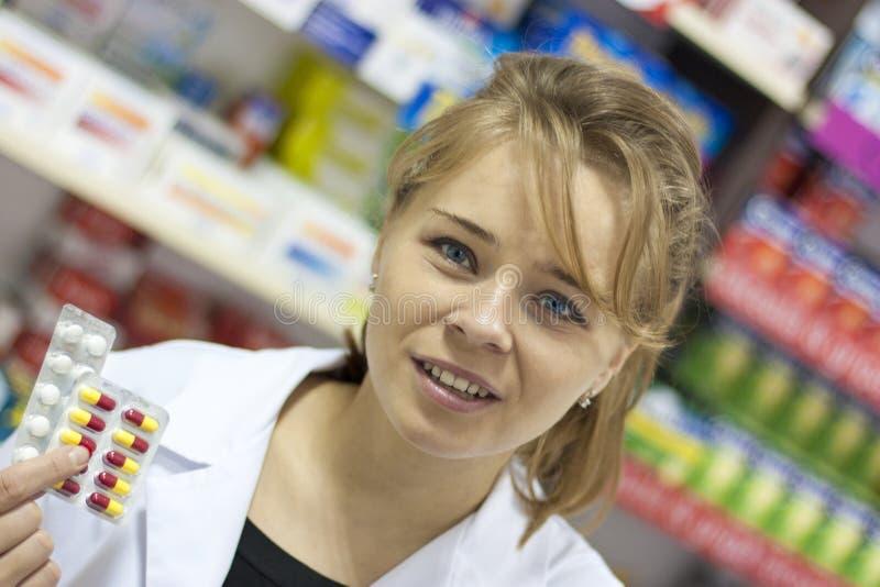 Pharmacist woman royalty free stock image