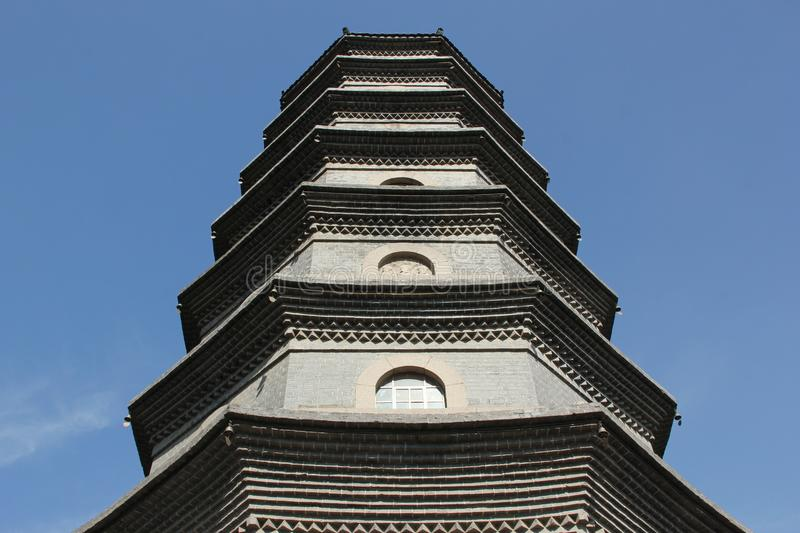 Pharmacists Tower. The Pharmacists Tower, a pagoda belonging to a temple complex in the city of Qingdao, China royalty free stock photos