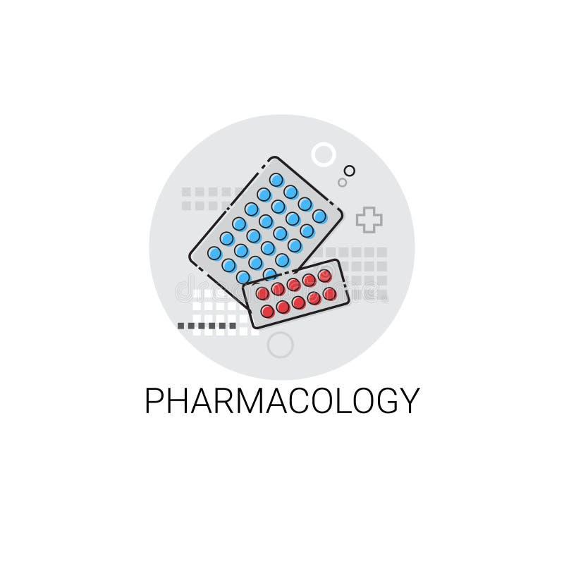 Pharmacology Hospital Doctors Clinic Medical Treatment Icon. Vector Illustration royalty free illustration