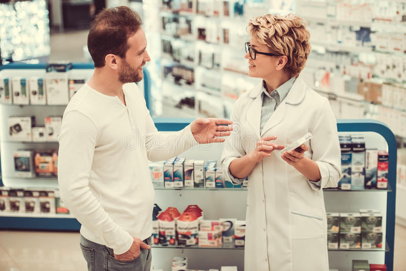 At the pharmacy royalty free stock photography