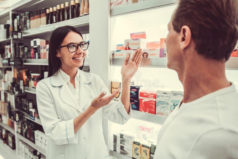 At the pharmacy stock photo