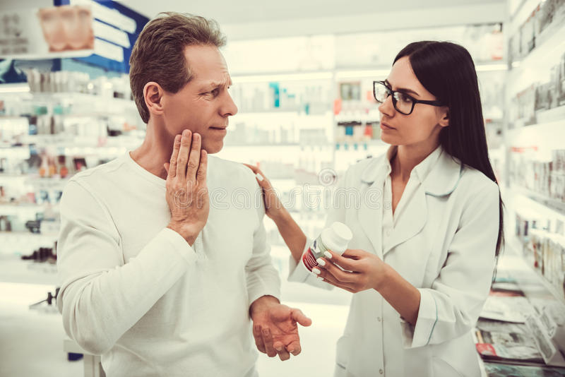 At the pharmacy royalty free stock image