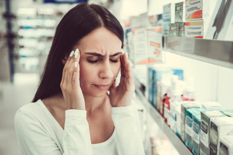 At the pharmacy stock image