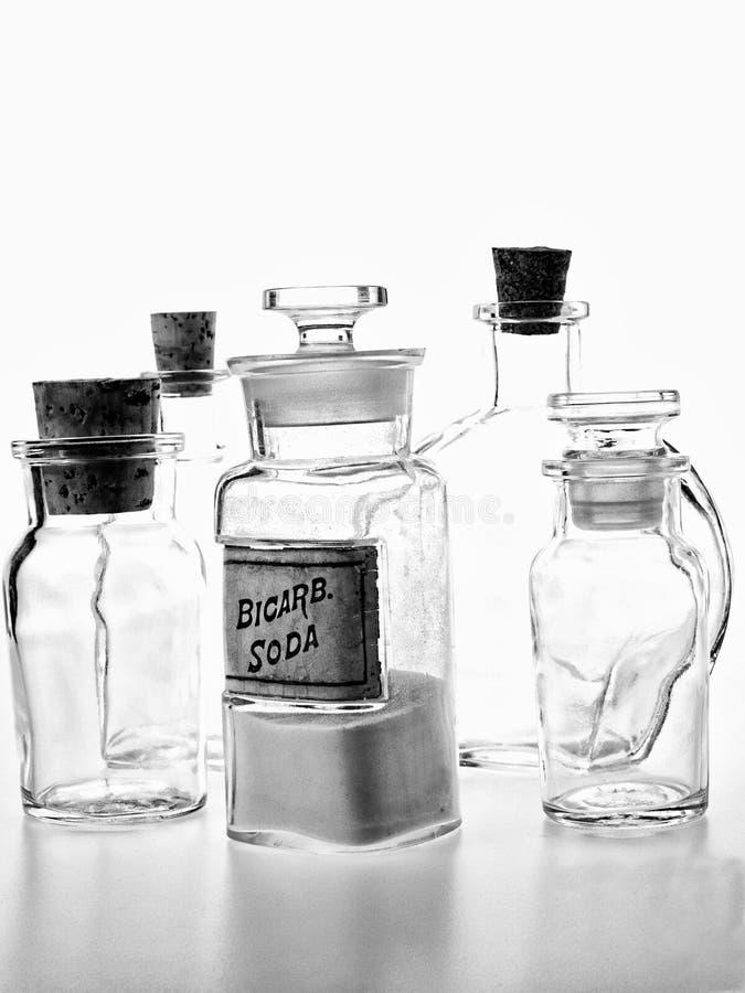 Pharmacy Bottle of Bicarb Soda royalty free stock photo