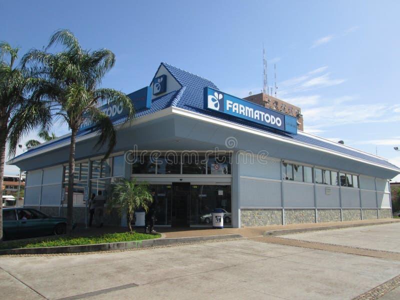 Pharmacy building, Farmatodo Alta Vista royalty free stock image