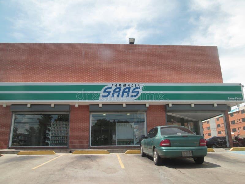 Pharmacy building, SAAS Paseo Caroni royalty free stock photos
