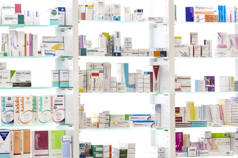 Download Pharmacy Cabinets With Medicines And Drugs Tablets And Food  Additives Editorial Stock Image   Image