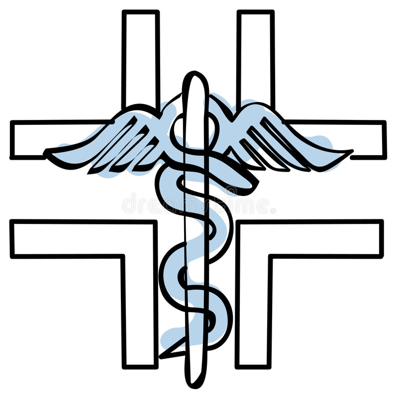 Pharmacy cross vector. A sketch of the pharmacy cross + vector EPS file see also caduceus illustration stock illustration