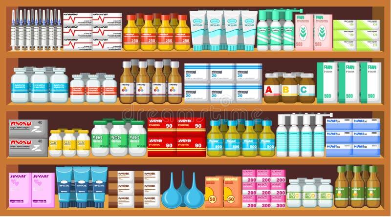 Pharmacy, medicine. stock illustration