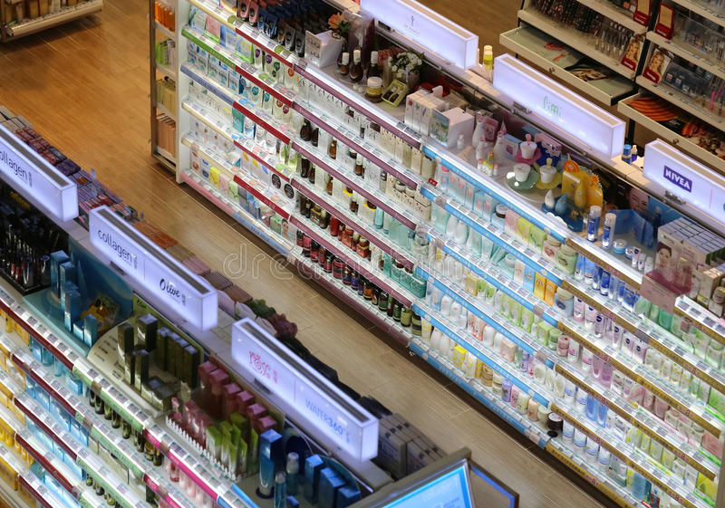Watsons Pharmacy Shop,Cosmetic. View of Watsons pharmacy shop,cosmetic and people stock image