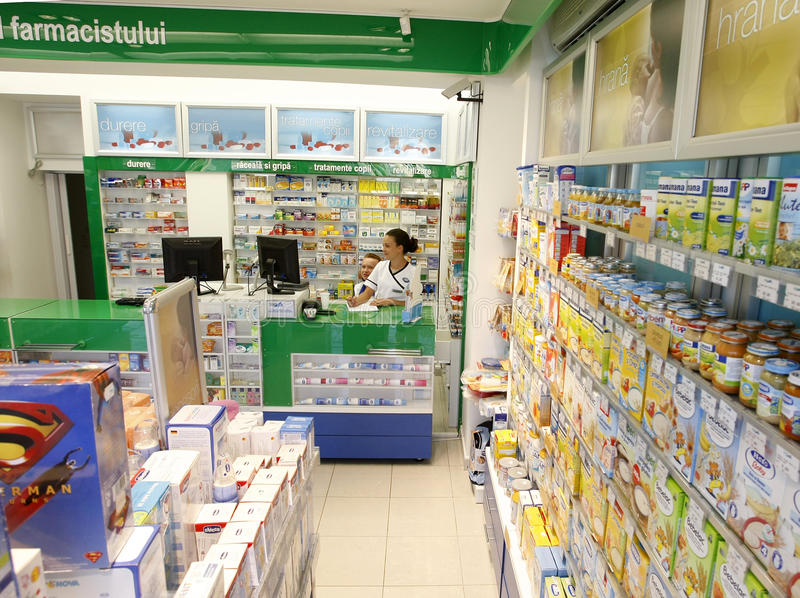 Download Pharmacy Shop Drugstore Interior Editorial Photography - Image: 18328142