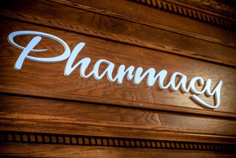 Pharmacy sign royalty free stock photo