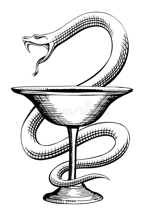 Pharmacy Snake And Cup Medical Symbol Stock Vector Illustration Of