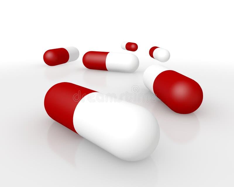 Pharmazeutische Kapselnahaufnahme lizenzfreie abbildung