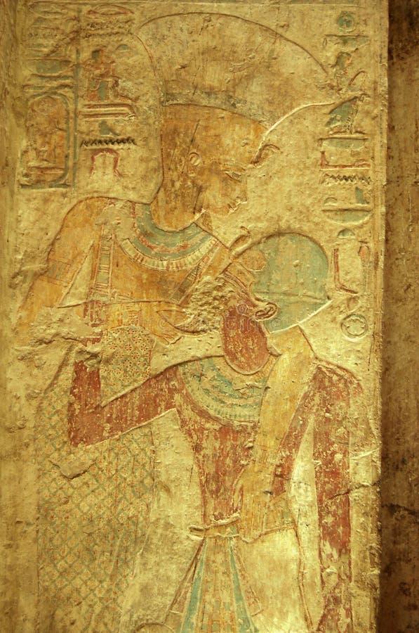 Pharoah Ramses und Göttin Nekhebet stockfoto