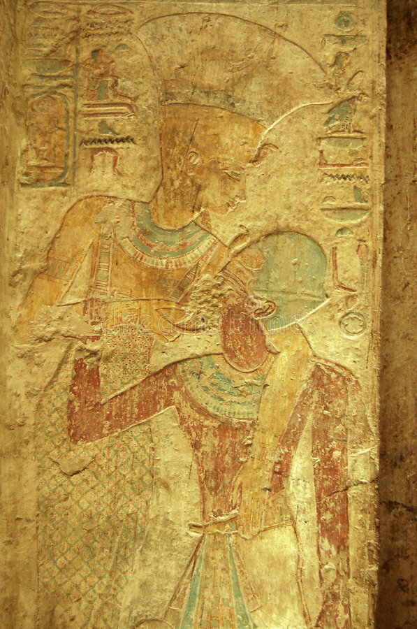 Pharoah Ramses y diosa Nekhebet foto de archivo