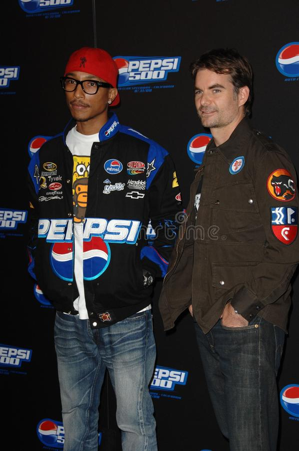 Pharrell Williams, Jeff Gordon royalty-vrije stock fotografie