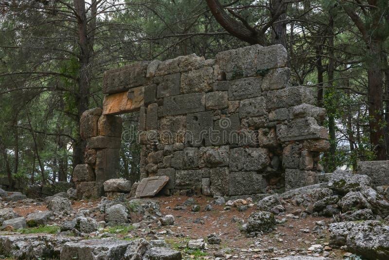 Phaselisruïnes in Turkije royalty-vrije stock fotografie