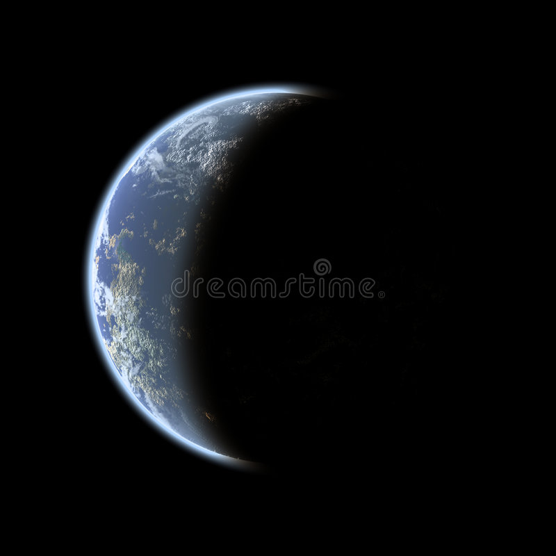 Phasenweise Erde stock abbildung