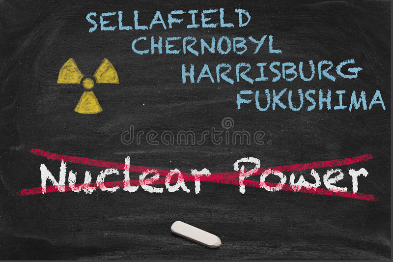 Phaseout nuclear imagem de stock
