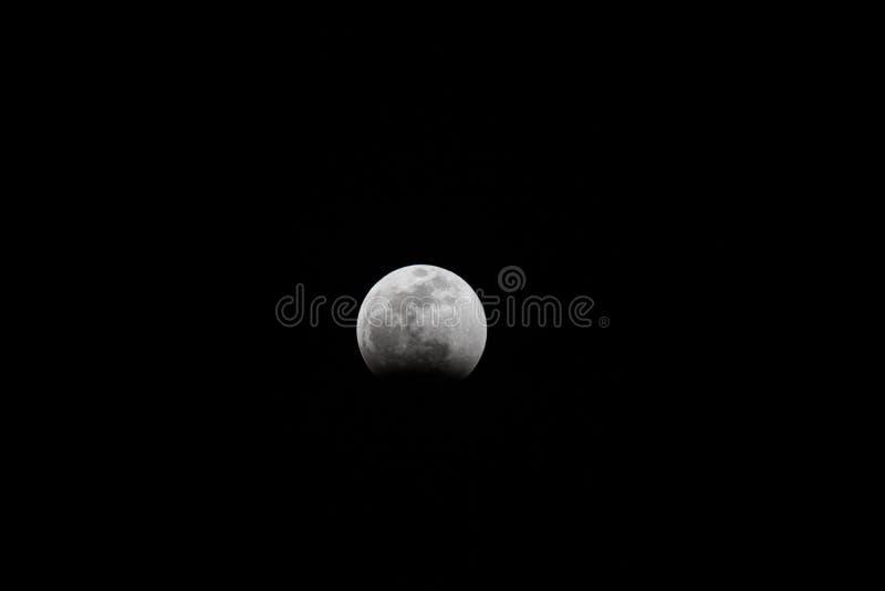 Phases d'éclipse lunaire de 2019 photographie stock libre de droits