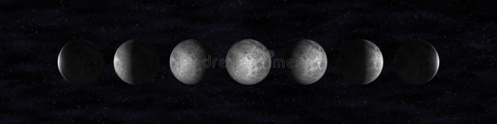 Phases de lune illustration de vecteur