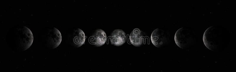 Phases de lune illustration stock