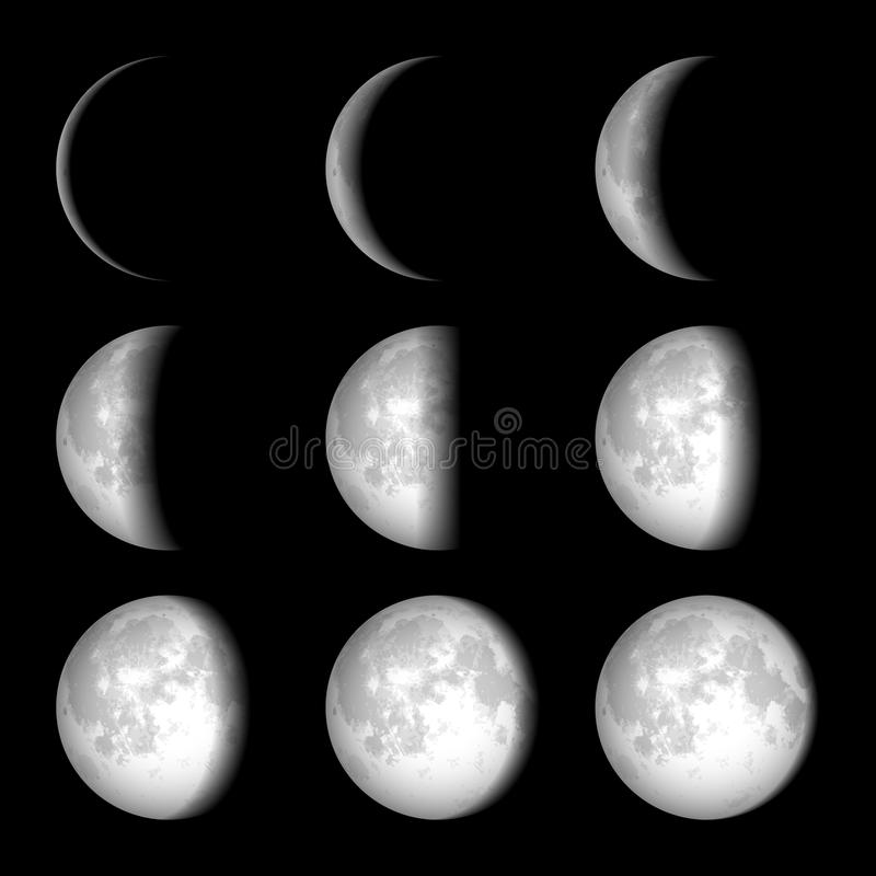 Phases de lune illustration libre de droits