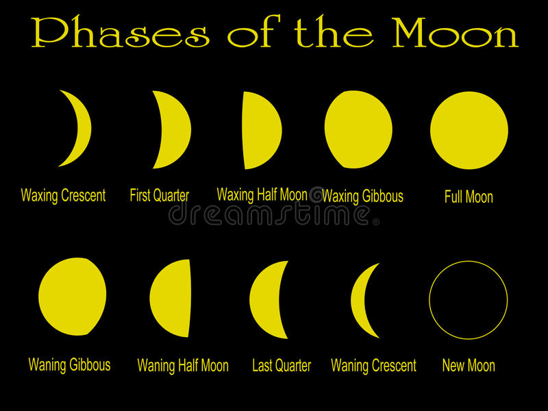 Phases of the Moon royalty free illustration