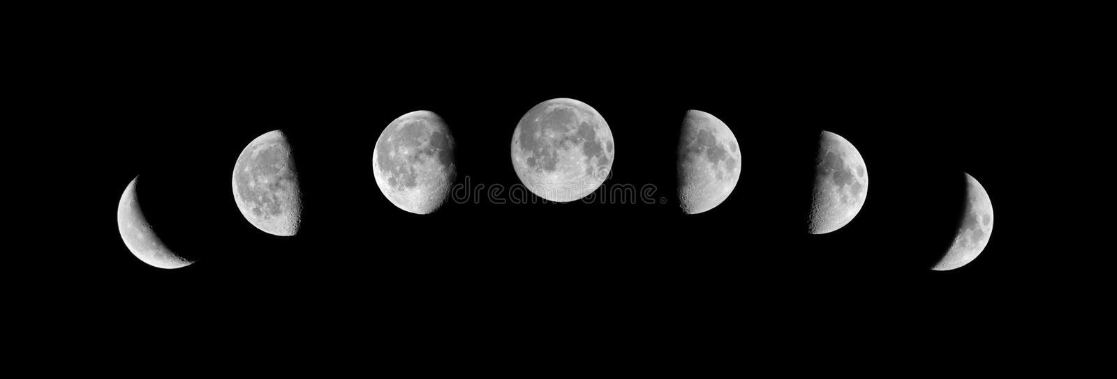 Phases of the moon royalty free stock photos
