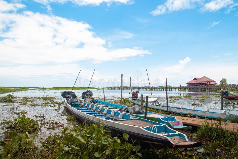 PHATTHALUNG, TAILANDIA: 13 de octubre de 2018 - el Thale-Noi es una nación foto de archivo libre de regalías