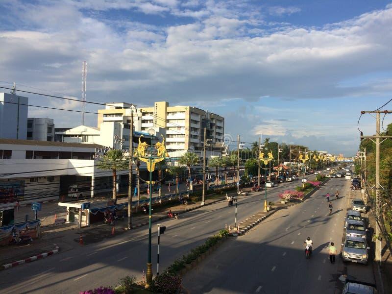 Phatthalung Thailand i morgon arkivbilder