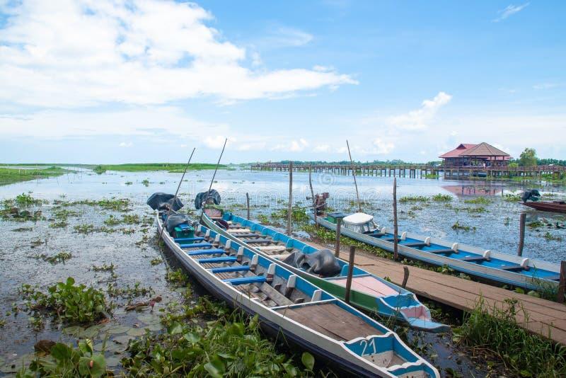 PHATTHALUNG THAILAND: Oktober 13, 2018 - Thale-Noi är en nation arkivfoton