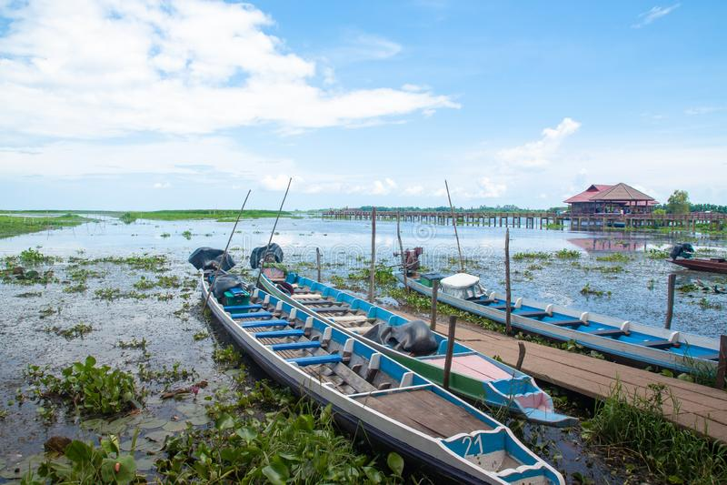 PHATTHALUNG, THAILAND: Am 13. Oktober 2018 - Thale-Noi ist eine Nation stockfotos