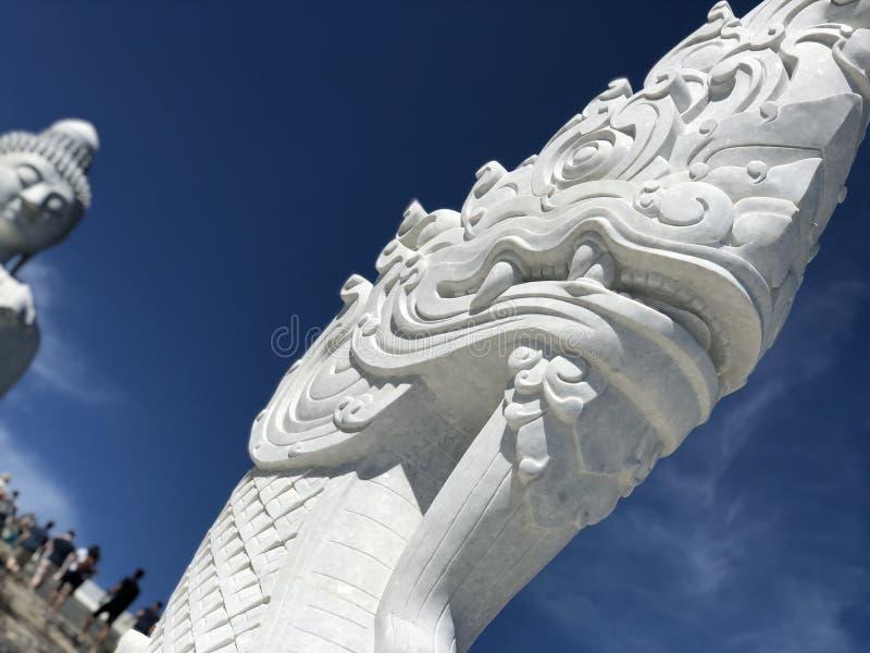 Phaya Naga på den stora Buddha av Phuket royaltyfri foto