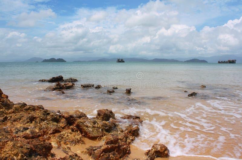 Phayam海岛, Ranong泰国 库存照片