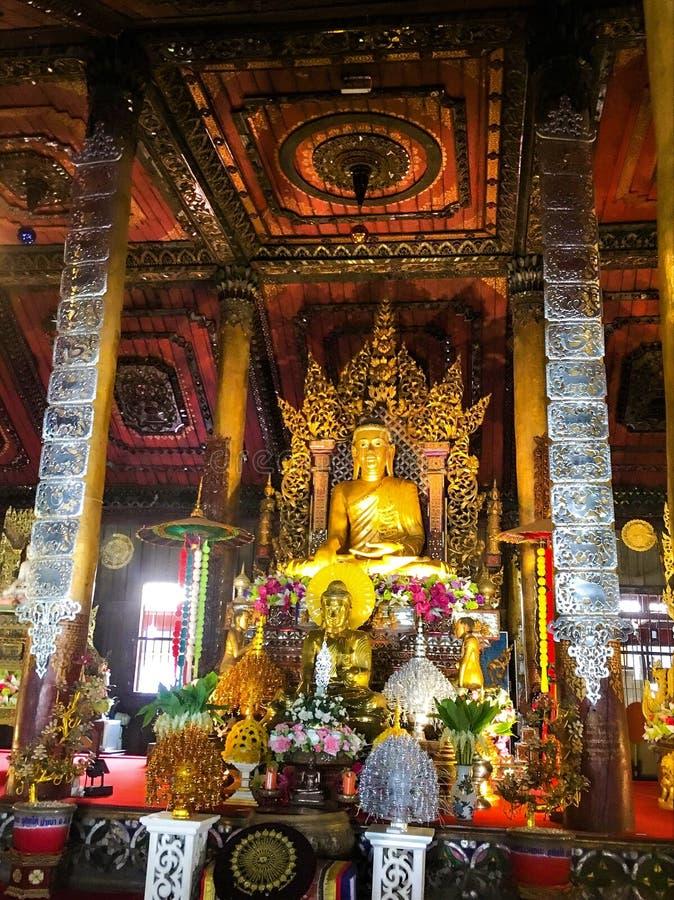 Phayao THAILAND August 4,2018 WAT NANTARAM TEMPLE Amphoe Chiang Kham.  royalty free stock photo
