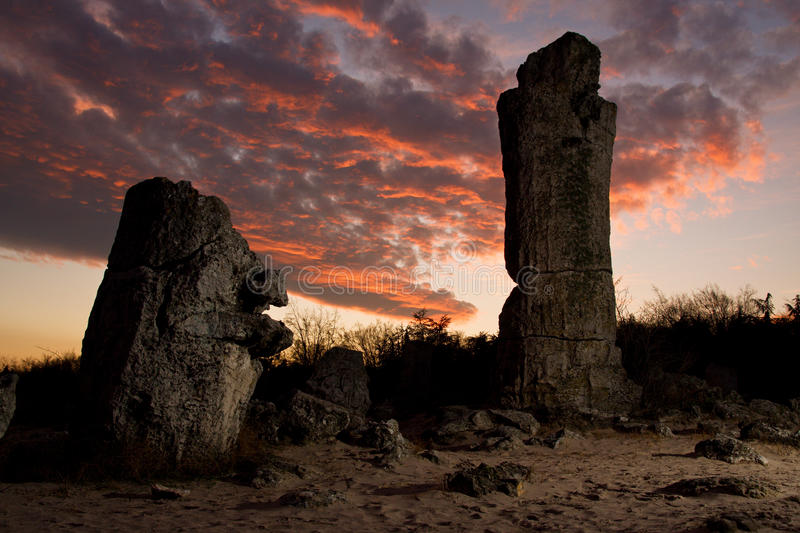 Phenomenon rock formations. In Bulgaria around Varna - Pobiti kamani. National tourism place. More landscape pictures here stock photography
