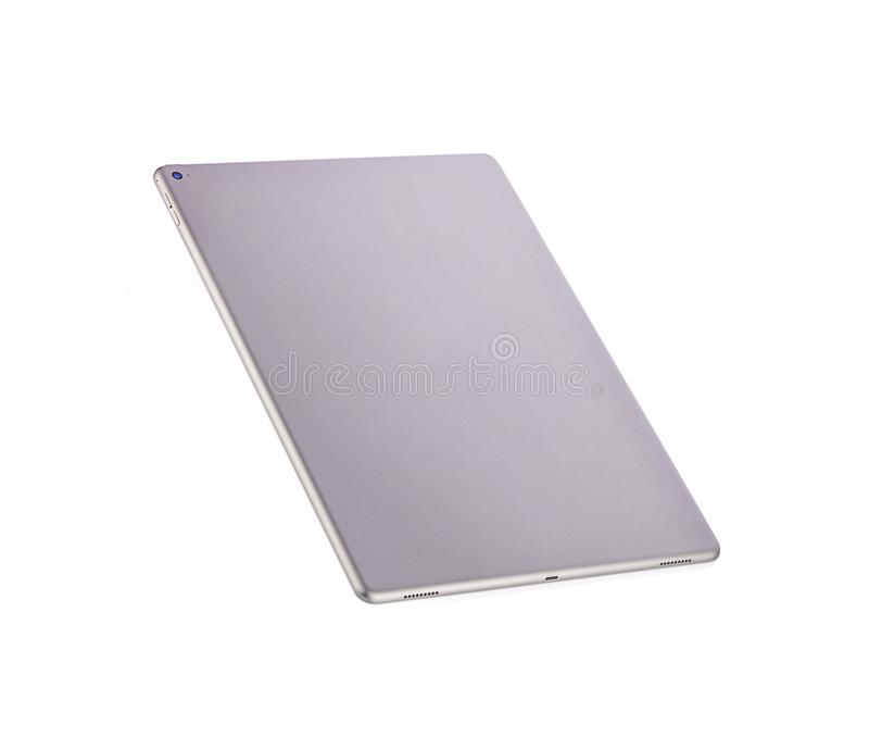 Phetchaburi,泰国- 2018年7月29日:苹果计算机iPad赞成12的后面 9在白色背景的彩色空间灰色 免版税库存图片