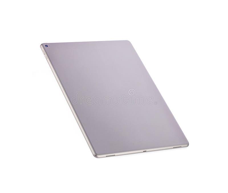 Phetchaburi, Таиланд - 29-ое июля 2018: Задняя часть iPad Pro 12 Яблока Серый цвет цветового пространства 9 на белой предпосылке стоковое изображение rf