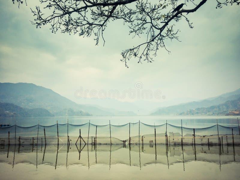 Phewa Lake, Phewa Tal or Fewa Lake is a freshwater lake in Nepal stock image