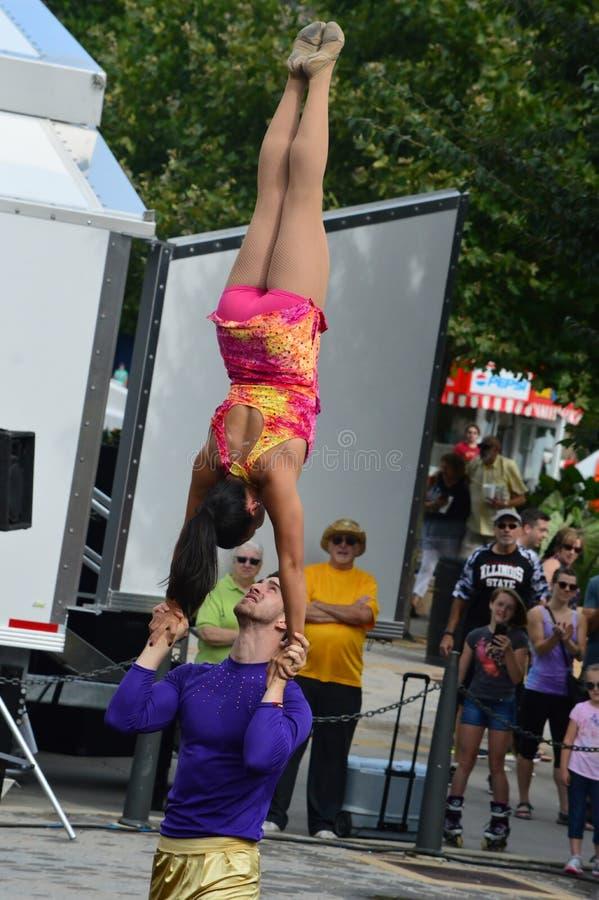 Phi γάμμα ακροβάτες τσίρκων στοκ φωτογραφίες με δικαίωμα ελεύθερης χρήσης