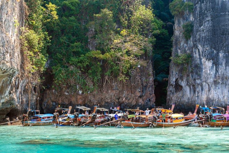 Phi Phi-eiland, Krabi-Provincie, Andaman-Overzees Tropische overzeese reis royalty-vrije stock afbeelding