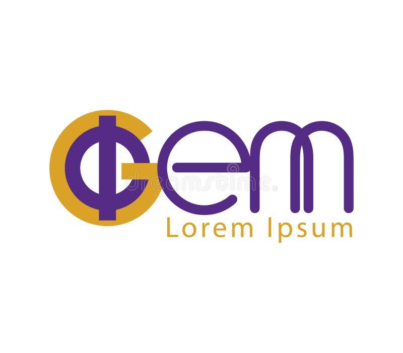 Download Phi And GEM Logo Design Stock Illustration - Image: 83705184