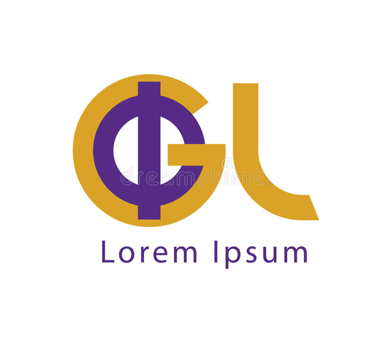 Download Phi and GL Logo Design stock vector. Image of greek, ratio - 83704291