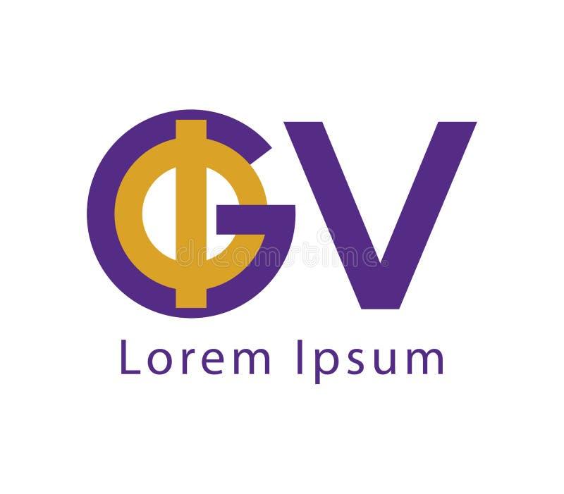Download Phi and GV Logo Design stock vector. Image of monogram - 83704107