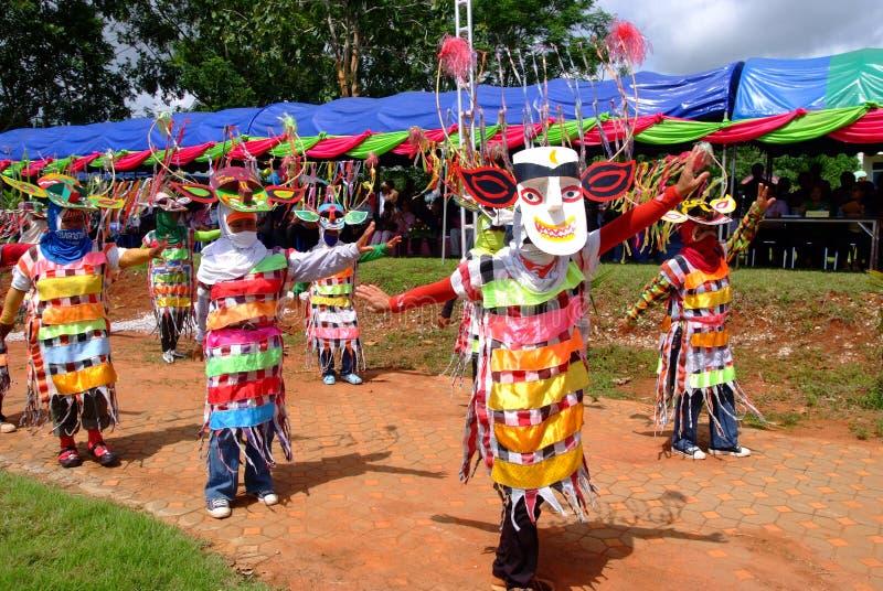 Phi Kon Nam Cultural in Chiang Khan. LOEI, THAILAND - MAY 12, 2017 : Phi Kon Nam Cultural in Chiang Khan, The little-known Phi Kon Nam festival in Ban Na Sao is stock photo