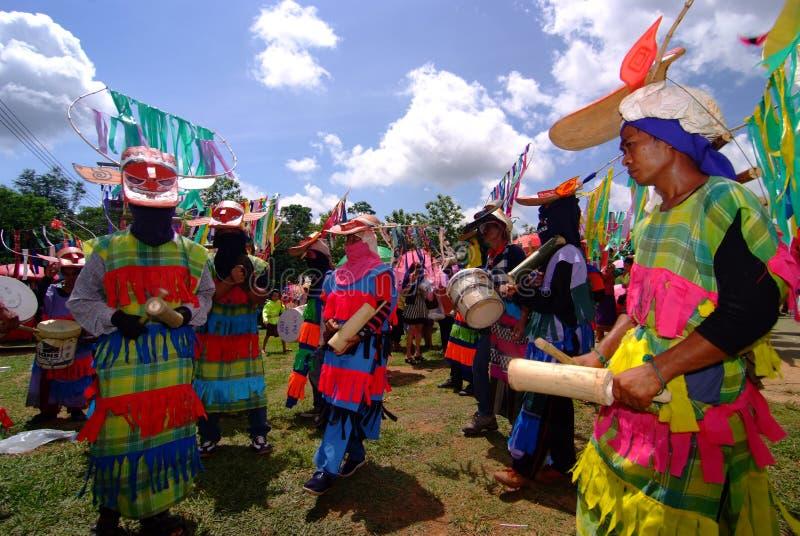 Phi Kon Nam Cultural in Chiang Khan. LOEI, THAILAND - MAY 12, 2017 : Phi Kon Nam Cultural in Chiang Khan, The little-known Phi Kon Nam festival in Ban Na Sao is royalty free stock photography