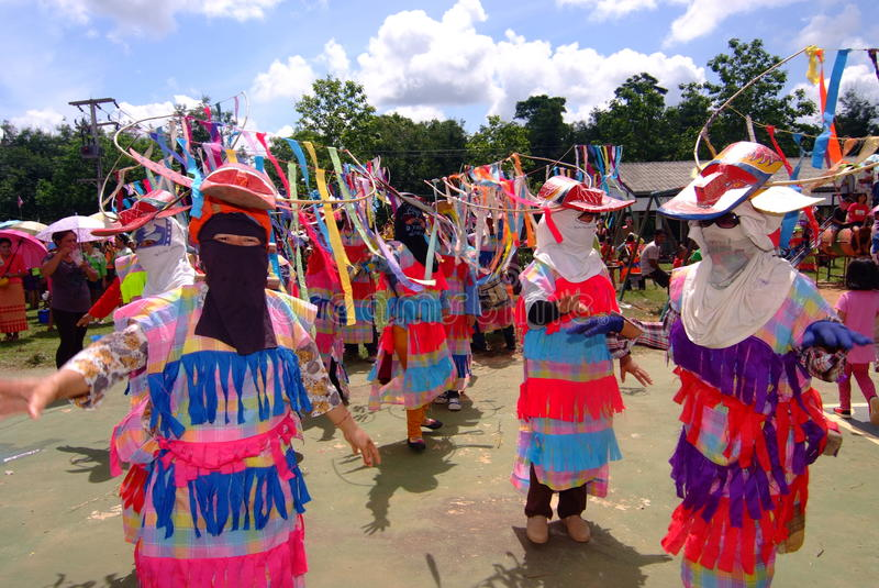 Phi Kon Nam Cultural in Chiang Khan. LOEI, THAILAND - MAY 12, 2017 : Phi Kon Nam Cultural in Chiang Khan, The little-known Phi Kon Nam festival in Ban Na Sao is royalty free stock photos
